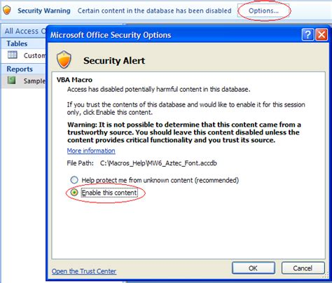 enable layout view access vba how to fix microsoft access database error 2950