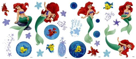 ariel wall stickers ariel the mermaid reflections wall decals wall stickers