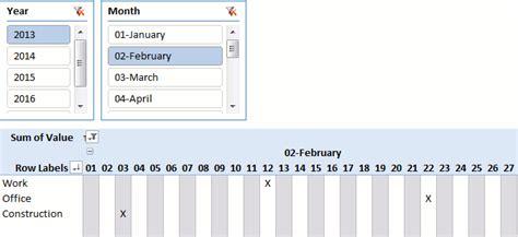 Ok Show Me My Calendar Pivot Table Calendar Get Digital Help Microsoft Excel