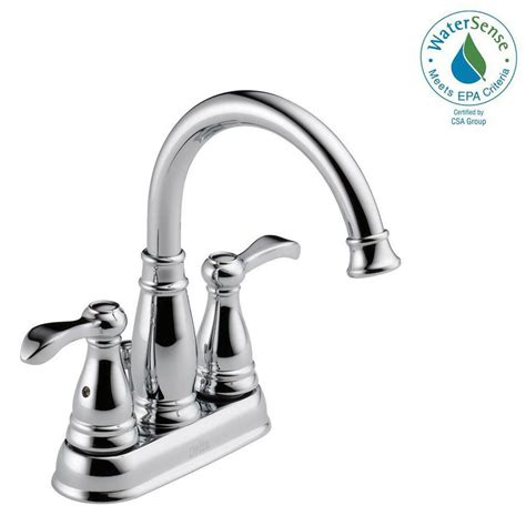delta porter 4 in centerset 2handle bathroom faucet in
