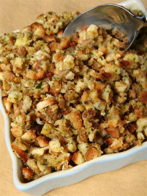 savory sage onion  smoked bacon stuffing recipe