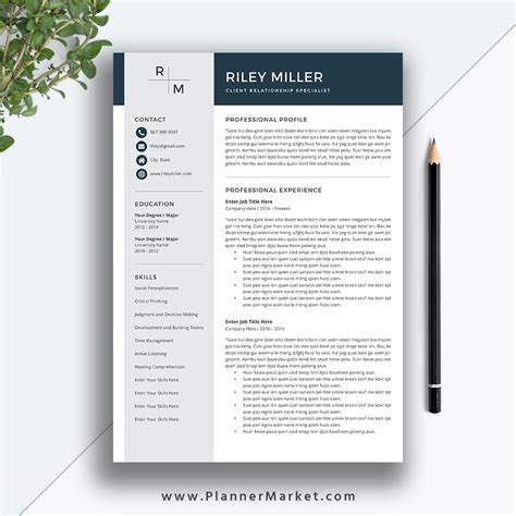 Professional 1 Resume Template by Professional Resume Template Cv Template Creative Resume