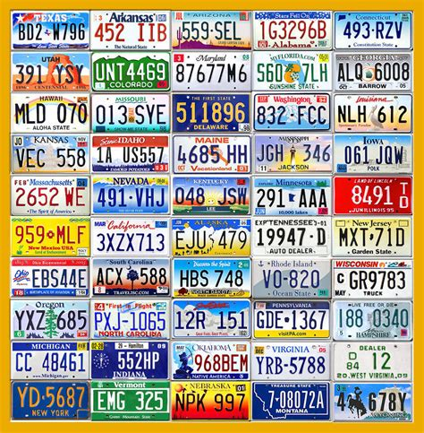 Florida Vanity Plate Search Complete Set Of Usa License Plates From All 50 States