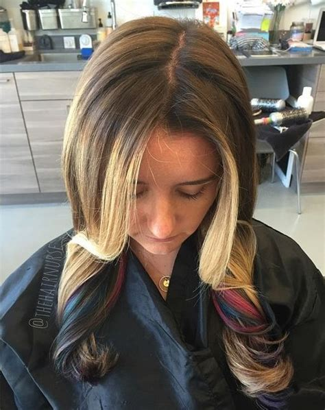 hairstyles peekaboo highlights 40 ideas of peek a boo highlights for any hair color