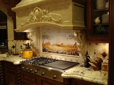 kitchen with a tuscan theme design bookmark 8856 where did you get the tile over the stove