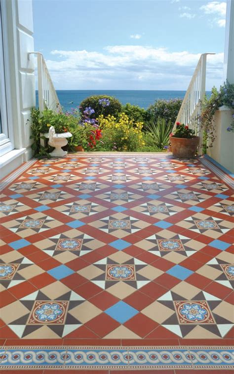 mix match floor tiles patchwork tiles mix and match your favorite colors for a