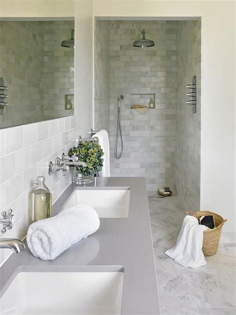 Grey And White Tiled Bathrooms by 17 Best Ideas About Bathroom Countertops On