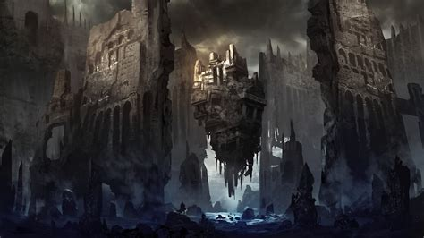 war future city wallpaper the ruins of the city after the war of the future