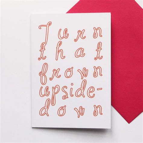 upside down card turn that frown upside down card by francesca iannaccone