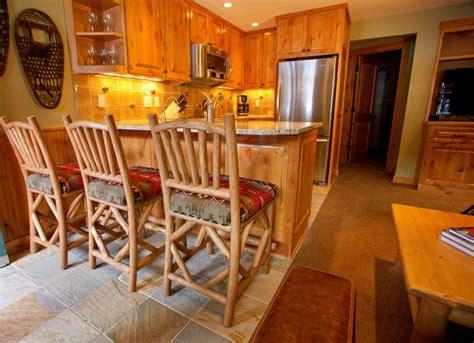 crystal mountain ski condo traditional kitchen