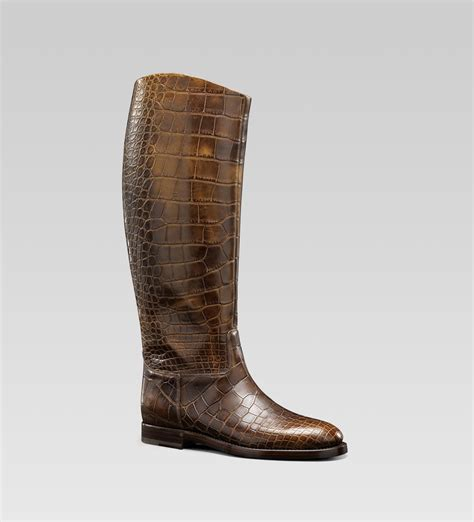 mens gucci boots gucci mens collection boot with gucci crest detail