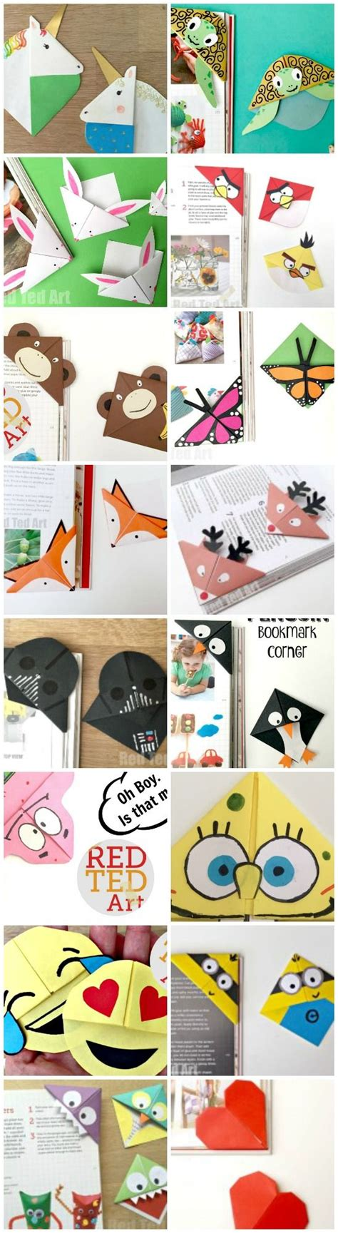 Paper Craft Bookmarks - corner bookmarks how to designs bookmark craft crafts