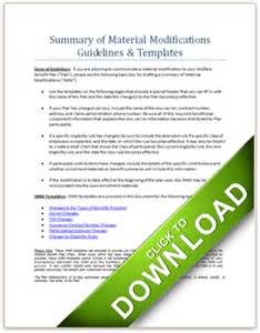 Summary Of Material Modifications Template smm guidelines and templates