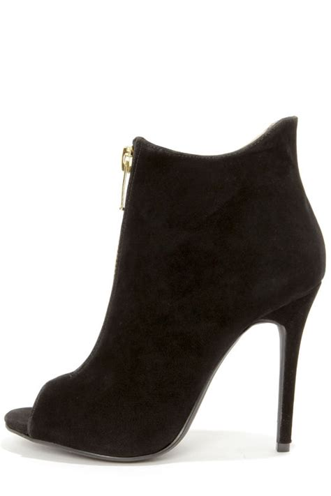 boots high heels black shoes high heel boots peep toe booties 39 00