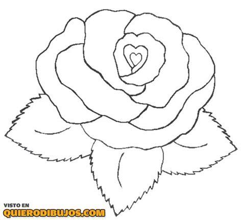 imagenes de corazones y rosas para dibujar rosa con forma de coraz 243 n para colorear