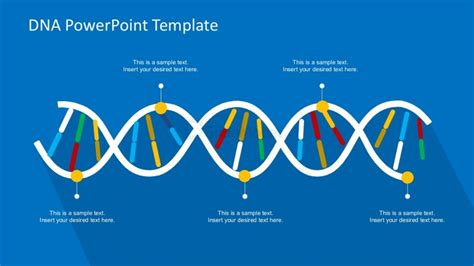 Dna Powerpoint Template In Blue Background Slidemodel Dna Powerpoint Template