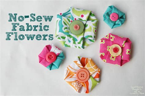 No Sew Fabric Flowers   Scattered Thoughts of a Crafty Mom
