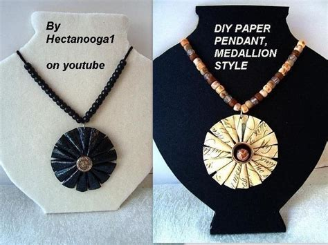 paper jewelry medallion pendant 183 how to make a