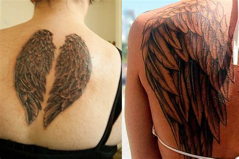 what is the meaning of wing tattoos on chest macytee com angel wing tattoos tattoo ideas designs meaning