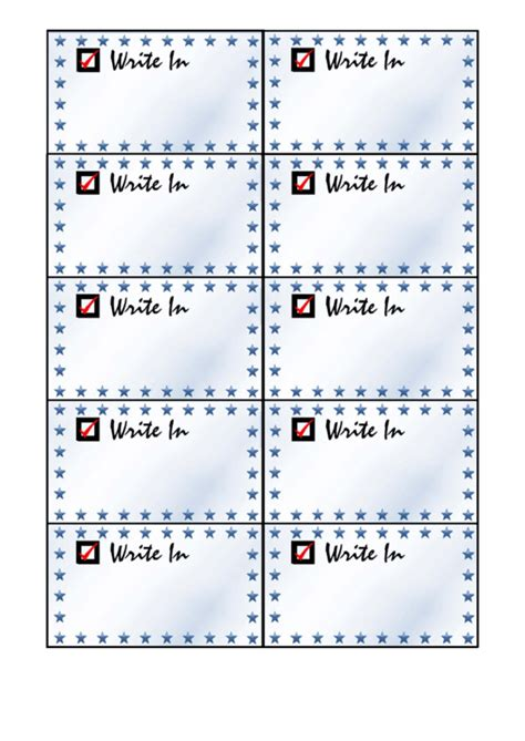 Palm Card Templates In Word by Write In Card Palm Cards Template Printable Pdf