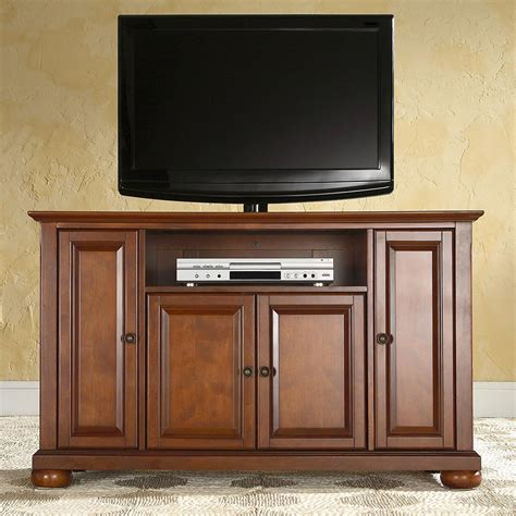 cherry wood entertainment cabinet 48 quot tv stand media entertainment center home