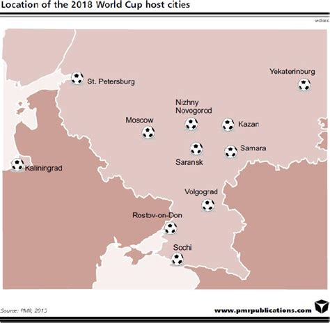 world cup 2018 host cities map more than 21bn to be spent preparation for the 2018