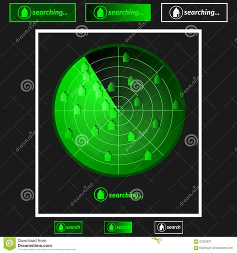 Radar Search Radar Property Search Stock Photo Image 62352837