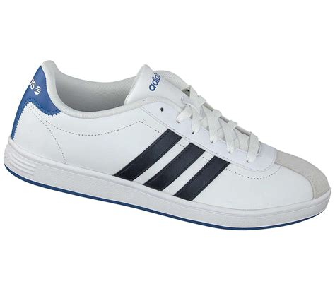 adidas vl court mens adidas vl court trainers white blue leather lace up