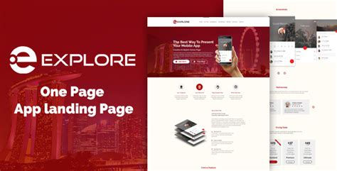 one page landing page template explore one page app landing template nulled