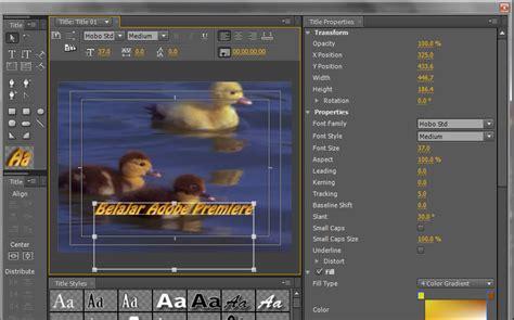 cara membuat tulisan pada video adobe premiere cara membuat title pada video menggunakan adobe premiere