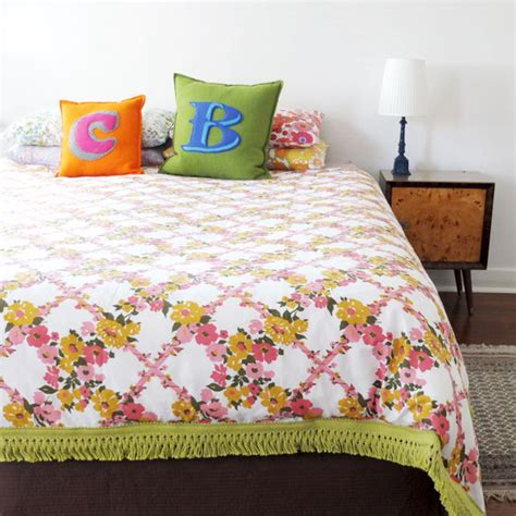 Make Bed Into by How To Vintage Sheet Duvet Cover Poppet Makes