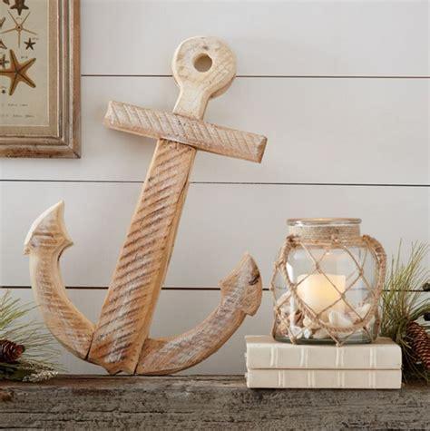 Wooden Anchor Anchor Wall Decor Large Wooden Anchor Decor Nautical Snob
