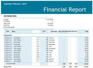 financial report example vertola