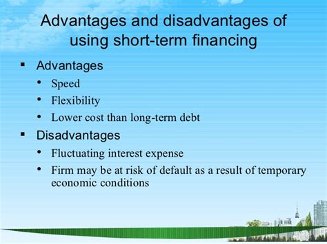 Advantages Of Mba In Finance by Financing Current Assets Ppt Bec Doms Bagalkot Mba Finanece