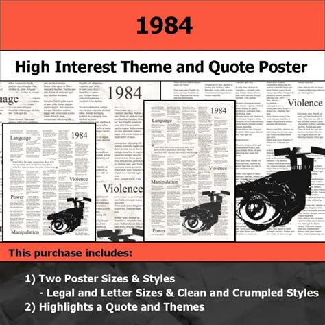 theme quotes in 1984 visual theme quote posters