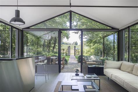 Two Story Tiny House by Stay In A Glass House Inspired By Philip Johnson