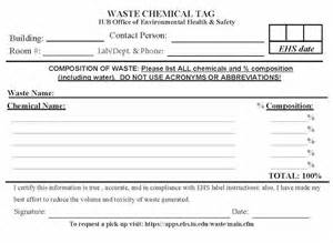 Chemical Label Template by Hazardous Waste Label Template Environmental Health And