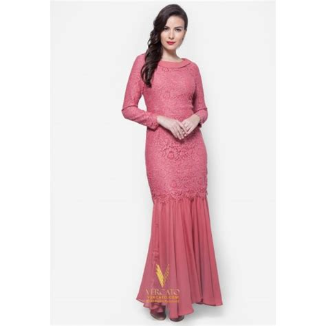 Baju Kurung Moden Lace baju kurung moden lace vercato mila in pink