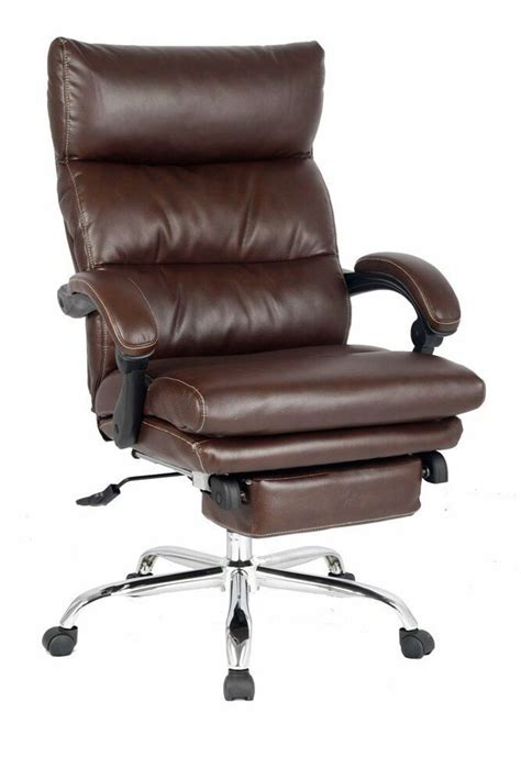 deluxe reclining chair thick padded executive chairnapping chair  footrest ebay