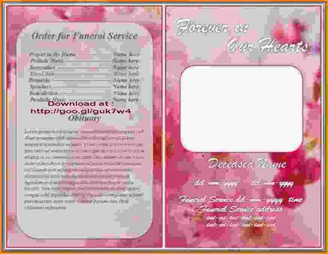 doc 549424 funeral program template free download 79