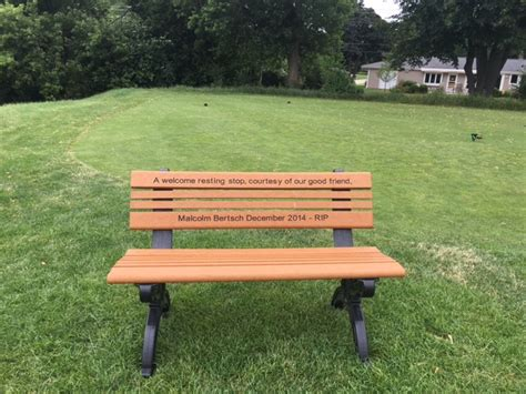 memorial benches cost memorial remembrance program