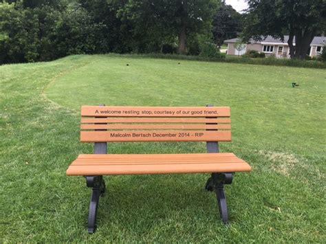 bench program memorial remembrance program