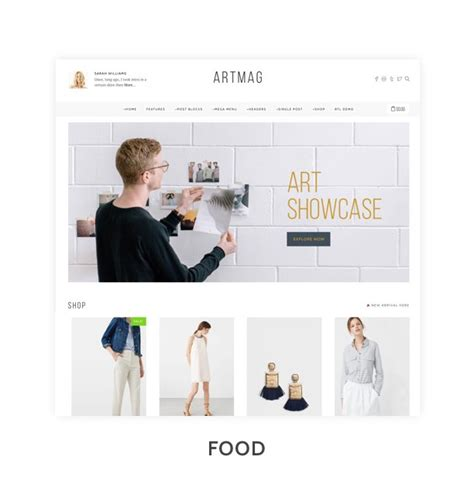 blog theme smartblog nulled theme nulled get artmag clean wordpress blog