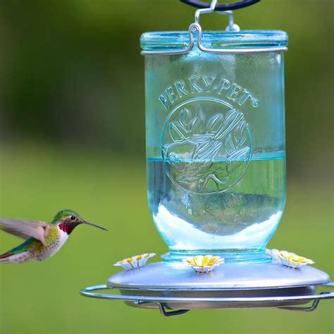 perky pet mason jar hummingbird feeder