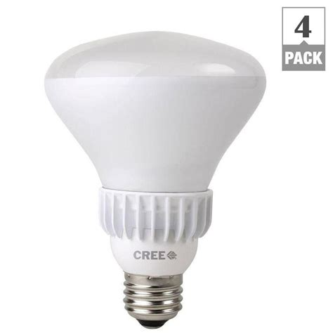 cree 65w equivalent soft white 2700k br30 dimmable led flood light bulb 4 pack bbr30