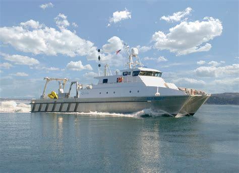 catamaran research ship aluminum catamaran work boat survey vessel youtube