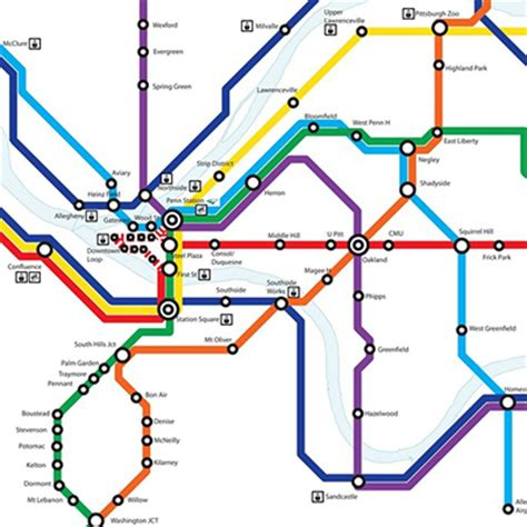 pittsburgh subway map this imagined pittsburgh light rail map is tantalizing