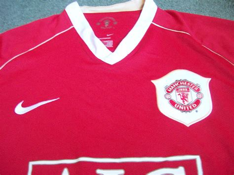 2006 2007 Manchester United Home Original Jersey Size L Ronaldo 7 2006 2007 manchester united ronaldo medium m sleeved l s cl football shirt 20 limited time