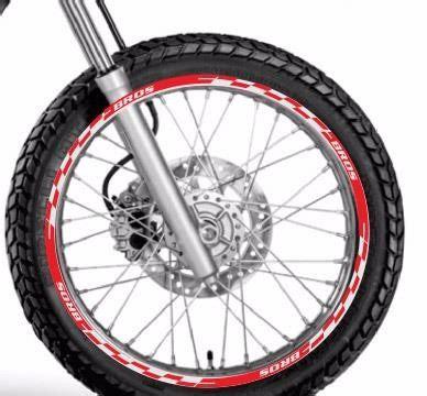 Bros M1 friso adesivo refletivo roda m1 moto honda bros 125 150