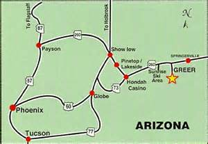 greer arizona map arizona s roads to greer